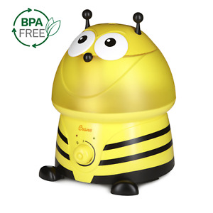 Crane USA Ultrasonic Cool Mist Humidifier with BONUS Filter, 1 Gallon,Bumblebee