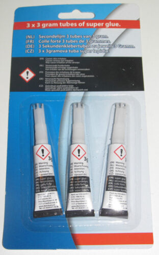 Set Lot x3 Tubes Colle Ultra Forte Universelle 3g Prise Instantanée