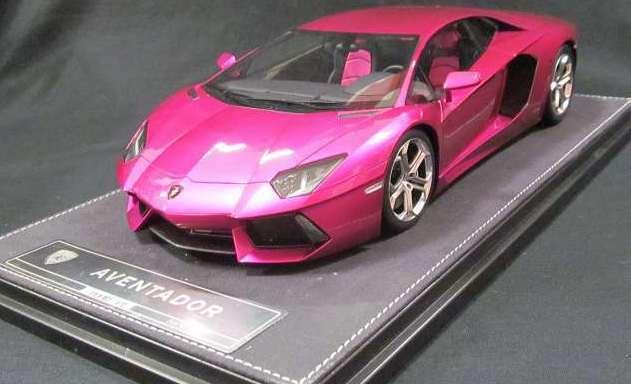 Kyosho Lamborghini Aventador Viola Rosso 1 18 Scala Pressofuso Lattuga Auto