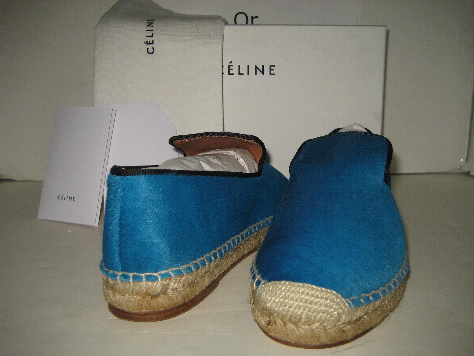 950 950 950 Nueva Celine US 10 EU 40 Turquesa Pony Cabello Zapato Mocasín Sin Cordones Zapatos  calidad garantizada