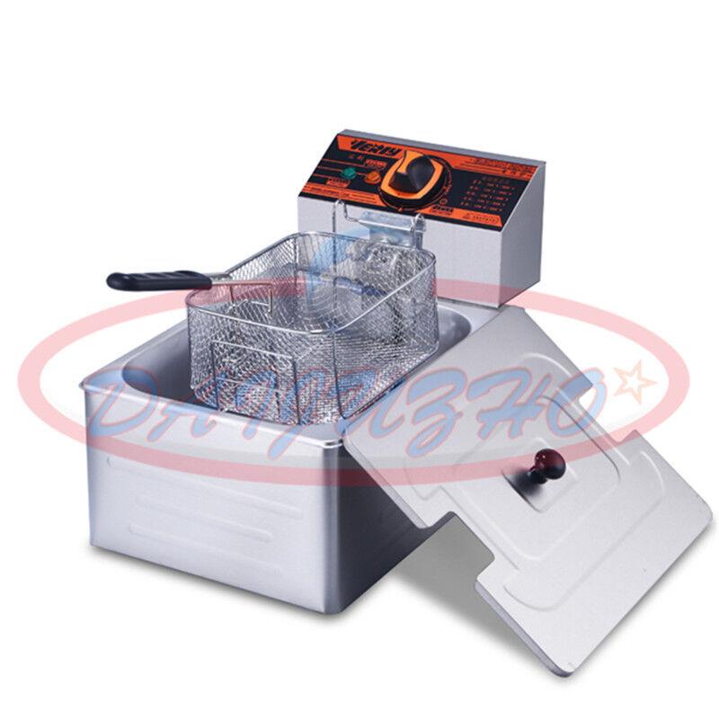 Simple Cylindre électrique 220 V Deep Fryer Potato Poulet churros Poêle 5.5 L