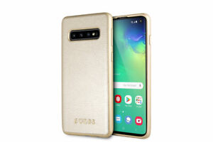 Guess-Iridescent-4G-Samsung-Galaxy-S10-G973F-SCHUTZHULLE-Back-Case-Cover-Gold