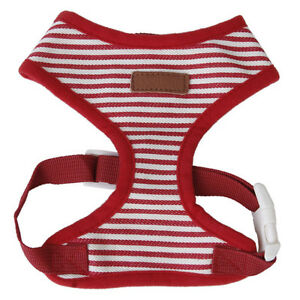 Dog-puppy-red-striped-Mesh-adjustable-Dish-clothes-pet-harness-size-XS-C9X2