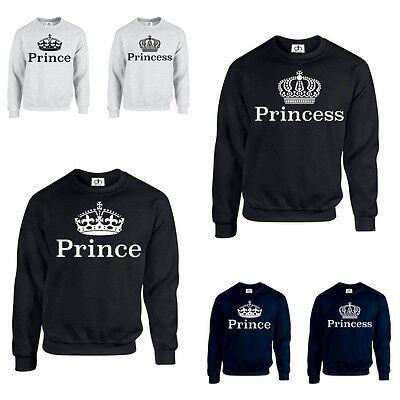 König Queen Prinz Prinzessin Krone 01 Kapuzenpulli XXS-3XL Mr Mrs Paar Passend