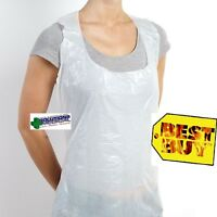 Apron Disposable Pe Water Proof White X 100