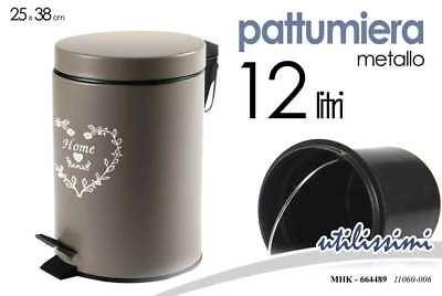 stilcasa Gettacarta Pattumiera Bianco-Litri 15 in Ferro 24x24xh32 Dim