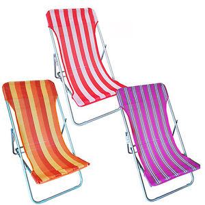 Tela Per Sedie A Sdraio.Sedia Sdraio Spiaggina In Alluminio Tela In Textilene Per
