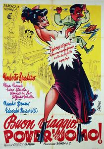 manifesto-2F-film-BUON-VIAGGIO-POVER-039-UOMO-Umberto-Spadaro-1951-Kremos