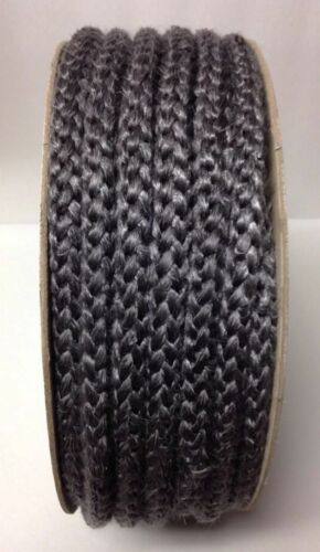 "47/' Spool 3//4/"" Black Graphite Fiberglass Rope Gasket Perkins 158 Wood Stove Door"