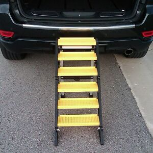 Pet Ramp For Car >> WAG Dog Boarding Steps for Vehicles/Home Use (vs. Ladders