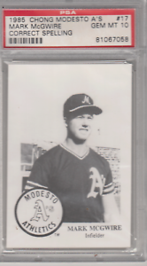 1985-Chong-Modesto-A-s-Mark-Mcgwire-RC-PSA-10-Hot-17-Correct-Spelling-ROOKIE