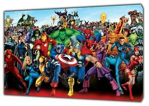 Characters-Marvel-Superheroes-Picture-Print-On-Framed-Canvas-Wall-Art-decor