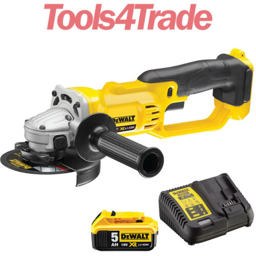 DeWalt DCG412N 18V XR 125mm Angle Grinder With 1 x 5.0Ah Battery /& Charger