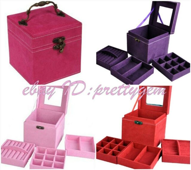 Easy To Carry Square Three Layers Pastoral Storage Fashion Multifunction Box