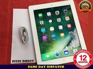 Apple iPad 4th Gen. 32GB Retina Display Wi-Fi, 9.7in - White iOS 10 - Ref 96