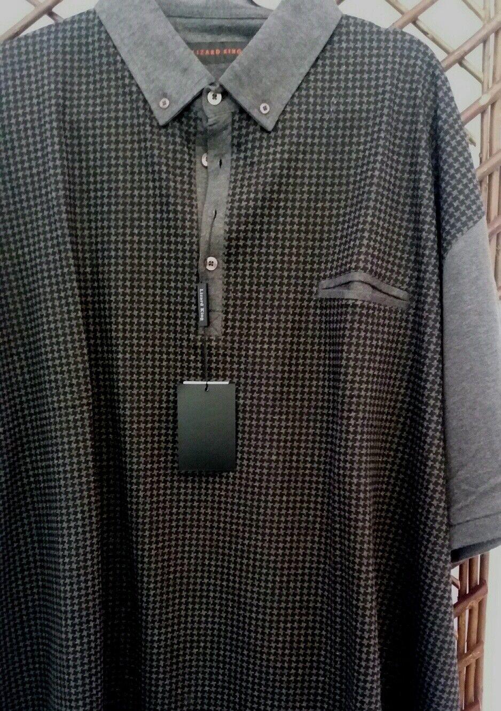 Maglietta Polo RE LUCERTOLA IN GRIGIO E NERO verificare 2XL3XL4XL5XL6XL7XL8XL