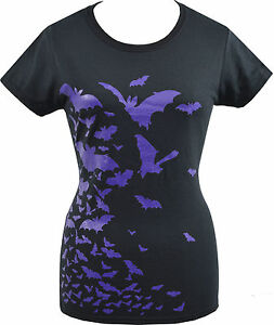 Happy Halloween Black T-Shirt w//Cap Sleeves  Size Large 12-14  NEW w//Tag
