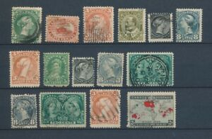 CANADA-Lot-of-15-very-old-Stamps-Good-used-stamps-High-CV-420-A2052