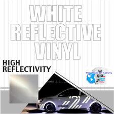 Reflective Vinyl Adhesive Sign Plotter High Reflectivity 12 X 60 5ft White