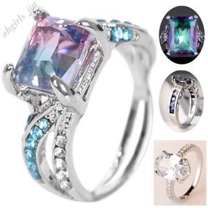 Mode-Ring-Gradient-Saphir-Strass-Damen-Schmuck-Fingerring-Zirkon-Hochzeit-Ringe