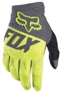 Nuovo-Giallo-Fluorescente-Fox-Motocross-Enduro-Tempo-Freddo-Guanti-Mx-Misura-M-L
