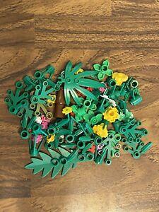 LEGO Bulk Plants Lot 50 Part Random Pull Trees Bushes Flowers Leaves Foliage