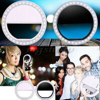 Portable Selfie LED Ring Flash Fill Light Clip Camera For iPhone Mobile Phone