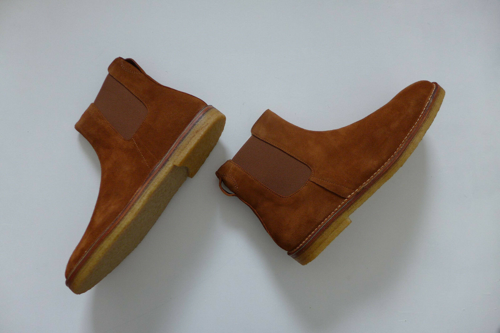 Folk Brandon Tan Suede Chelsea Stiefel, Größe UK11 - New with Box