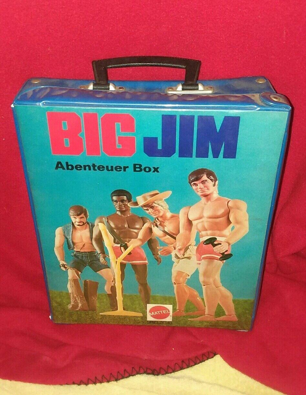 big jim mattel carry on case storage abenteuer box