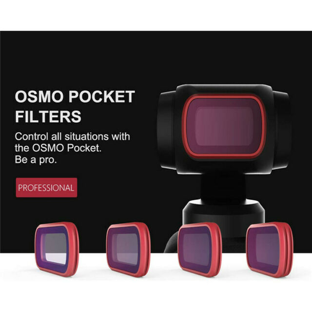 For DJI OSMO POCKET ND8/ND16/ND32/ND64 ND-PL Camera Lens Filters Set 4x Filters