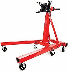 JEGS 80042 Red Engine Stand 2000 lbs Capacity 360 Degree Head Motor Stand
