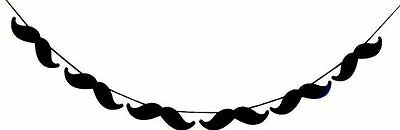 6 ft - 8 Mustache Party Banner. Garland. Party Props. Photo Booth Props (538B)