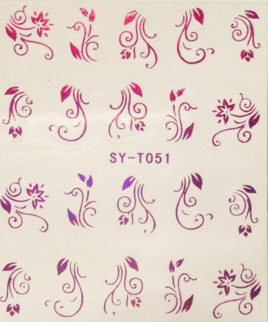 Edle,hochwertige Tattoos Sticker filigran Floral BEIWERK metallic pink SY-T051P