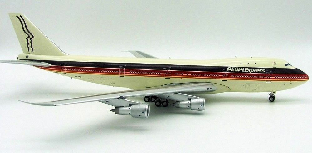 JFOX JF7471002 1 200 PEOPLEXPRESS BOEING 747-100 N603PE WITH STAND