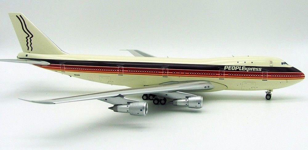 Jfox Jf7471002 1 200 Peoplexpress Boeing 747-100 N603pe avec Pied