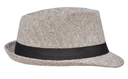 Vintage Unisex Men Women Wool Blend Fedora Hat Short Brim Solid Panama Cap