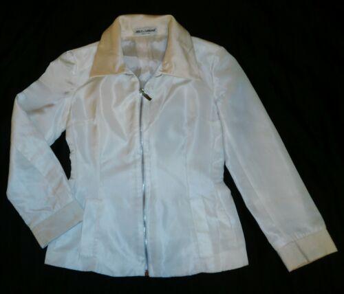 Autentisk Dolce Blend ~ Jakke Gabbana Hvid M Silke Størrelse S zw7qzfUrTx