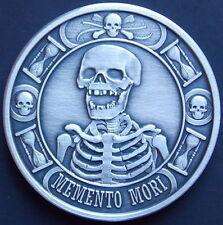 """NEW!! 1 oz Memento Mori """"The Last Laugh"""" Antiqued Finish .999 Silver Round Coin"""