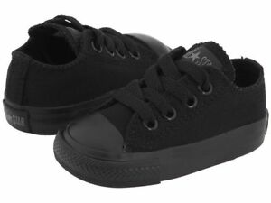 5f98bef473c7 Converse Chuck Taylor Ox Top Black Mono Infant Toddler Boys Girls ...