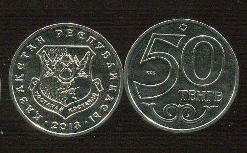 "KAZAKHSTAN 50 TENGE /""QOSTANAY /"" NEW 2013 COIN UNC"