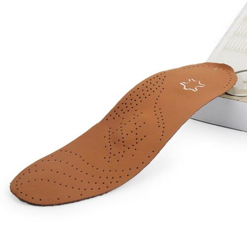 Brown Face Black Gray Bottom Bow Bottom Leather Plastic Shock Absorber Insole