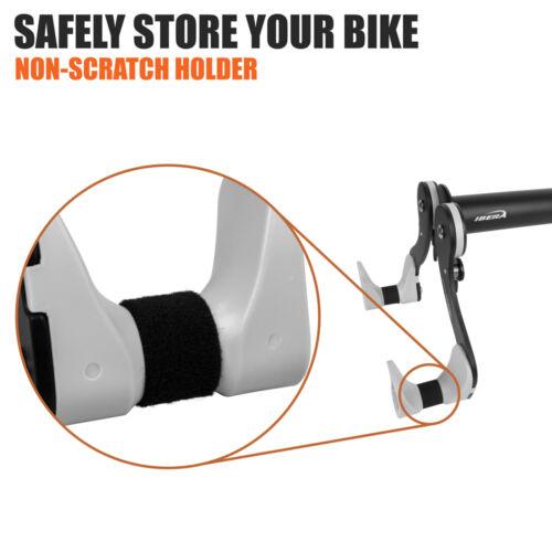Ibera Bike Wall Mount Hanger Wall Stand 45° Adjustable Storage Rack Holder Hook