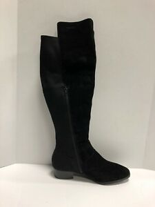 Knee Black Suede Boots US10 Wide