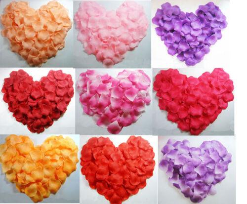 500/1000 Pcs Multi Colors Rose Petals Wedding Flower Bridal Decoration Confetti