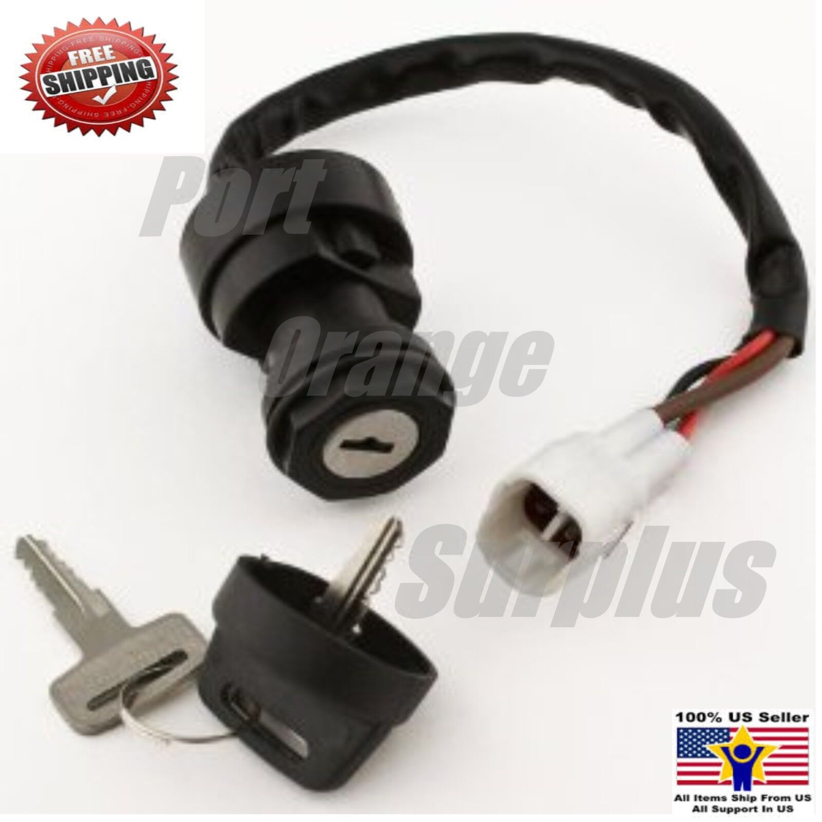 ignition key switch fits yamaha grizzly 600 yfm600 1999. Black Bedroom Furniture Sets. Home Design Ideas