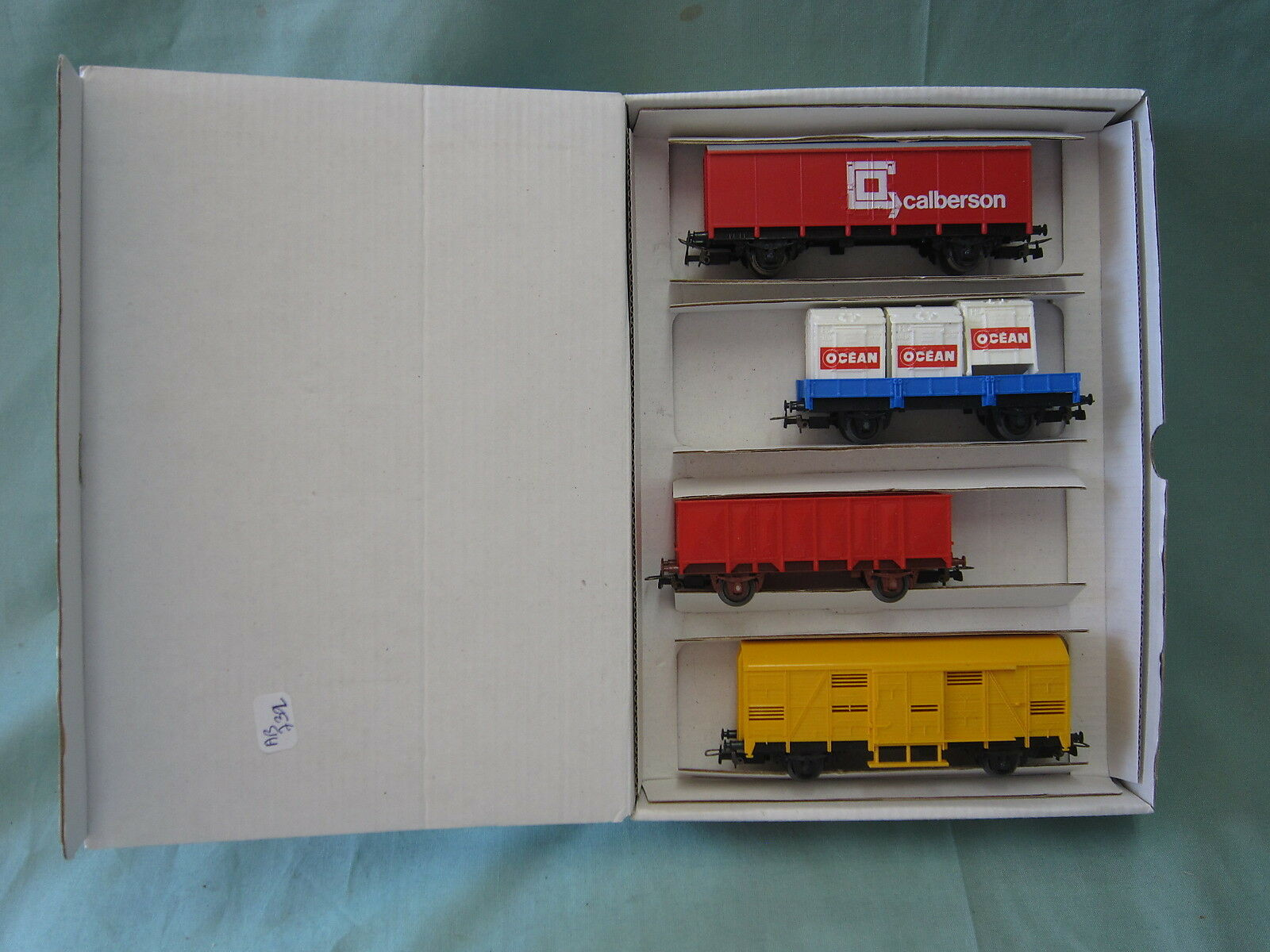 Ab732 jouef tres rare boxed train hors commerce nº 4 ref a12010 oh