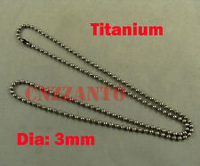 Pure Titanium Military Army ball chain necklace anti-allergy 23.6 inch (60cm)