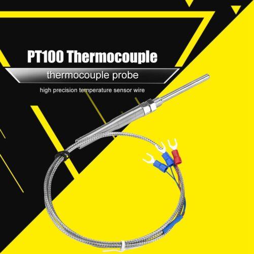 1M-5M PT100 Thermoelement 50mm Temperaturfühler Temperatursensor Sonde 0-400 ℃