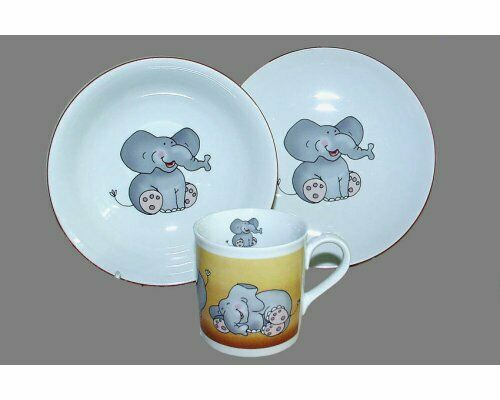 Elephant   Kids Dinnerware Plates and Mug Kit
