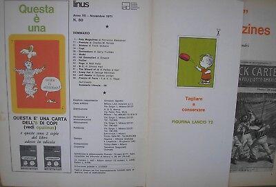 LINUS 1971 Figurina Nuova  n° 083